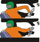 Руление одной рукой при движении задним ходом