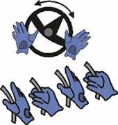 тормозящее (уступающее) руление двумя или одной рукой